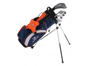 UL51 (130cm) 5-Club Stand Bag Set WT-20u, Blue/Orange