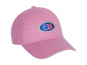USKG Oval Twill Cap Pink XS/S