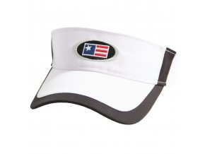 USKG Oval Tech Visor White/Black M/L