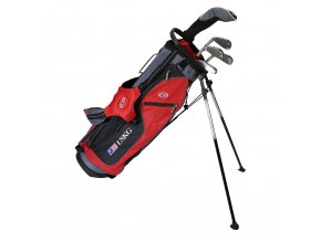 28561 UL63 WT 10 5Club Stand Bag red black grey