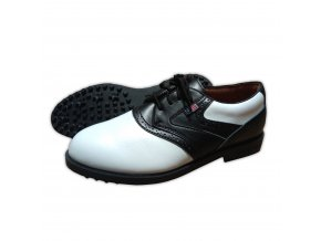 Black/White Saddle USKG Swing-Right Shoes (spikeless)