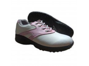 Pink/White U.S. Kids Golf Swing-Right Shoes (Spikes)