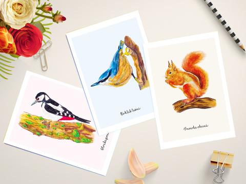 Malované pohlednice