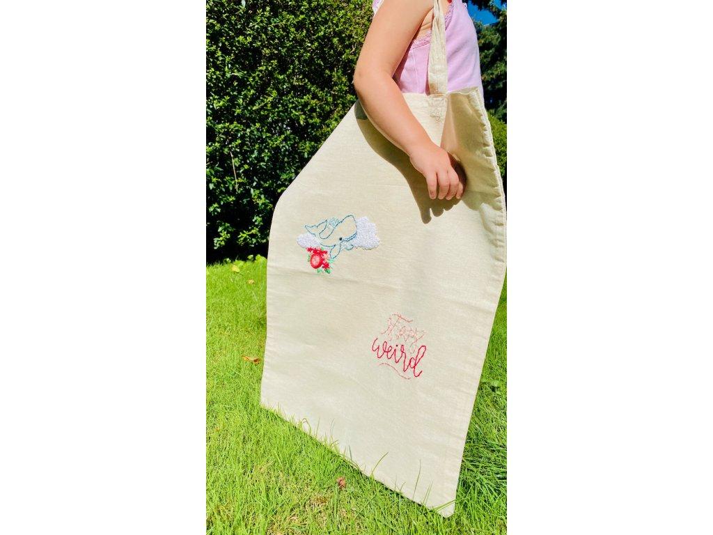 394 originalni nakupni taska stay weird velka ruzove kvety