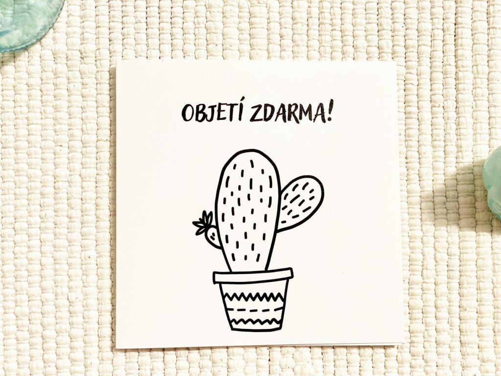 Přáníčko vtipné - kaktus