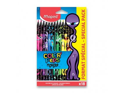 Pastelky Maped Color'Peps Monster - 18 barev