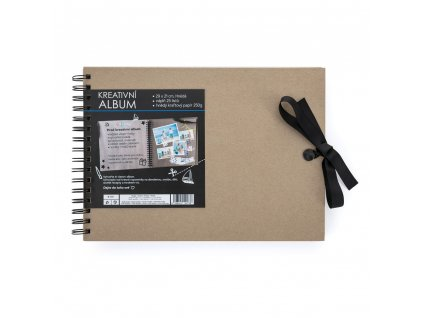 Kreativní album 30 x 21,5 cm hnědé