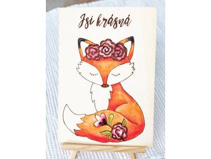 Vypalovaný obrázek Lišky - Jsi krásná