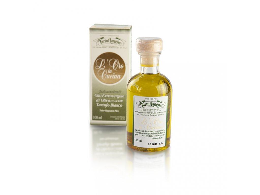 olivový olej extra vergine s bílým lanýžem 100ml TartufLanghe e