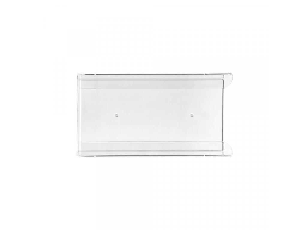 Zásobník na 1 krabičku rukavic 1 ks, akrylát, transparentní