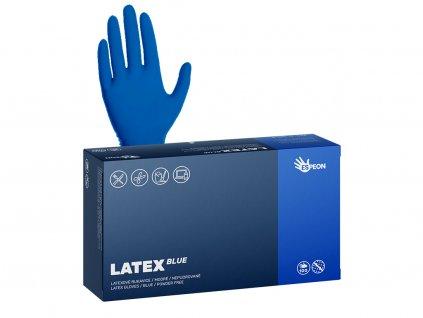 latex modre s rukou