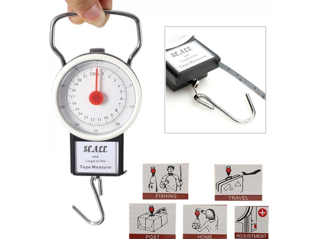 Mincíř s metrem do 35kg Small Scales with Tape Measure