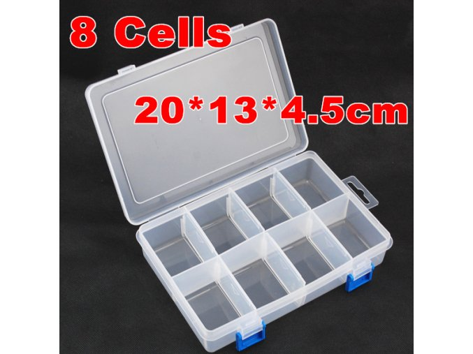 2pcs lot 8 Grid Transparent Box Plastic Acrylic Cosmetic Nail Art Pill Box Case Portable Storage.jpg 640x640