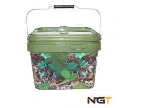 Kbelík NGT Medium Camo Bucket Square Deluxe 10l