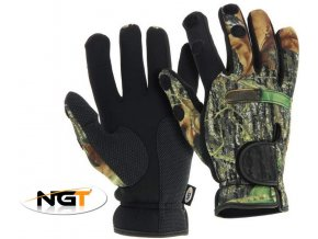 Neoprenové rukavice NGT Camo Neoprene Gloves