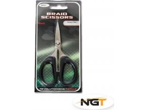 Nůžky na šňůry a vlasce NGT Braid Scissors Black