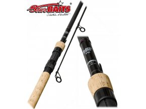 2-dílný kaprový prut StarBaits Partner Black Ops Full Cork 3,0m 3,00lb