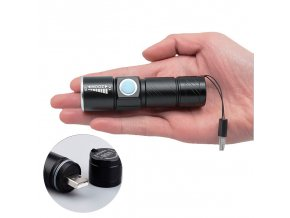 Portable USB Handy Powerful LED Flashlight Rechargeable Torch usb Flash Light Bike Pocket LED Zoomable Lamp 1