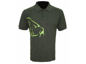 Zfish Tričko Carp Polo T-Shirt Olive Green