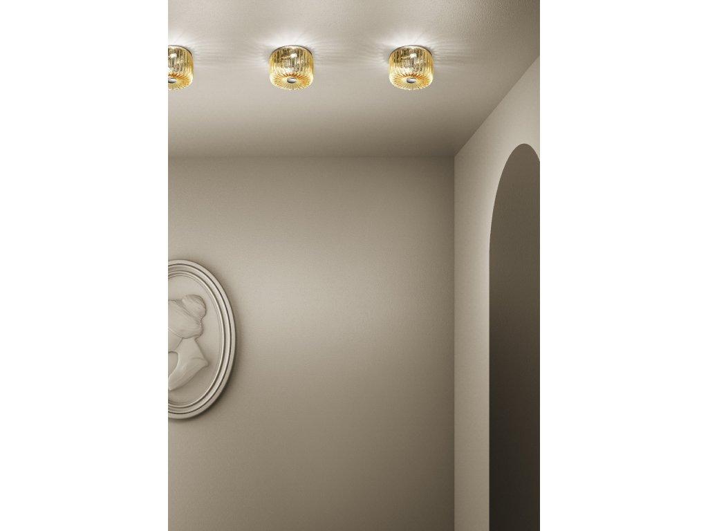 Sylcom osvětlení Mask (Barva ametyst, Materiál leštěný chrom, Rozměr pr18 cm d12 cm)