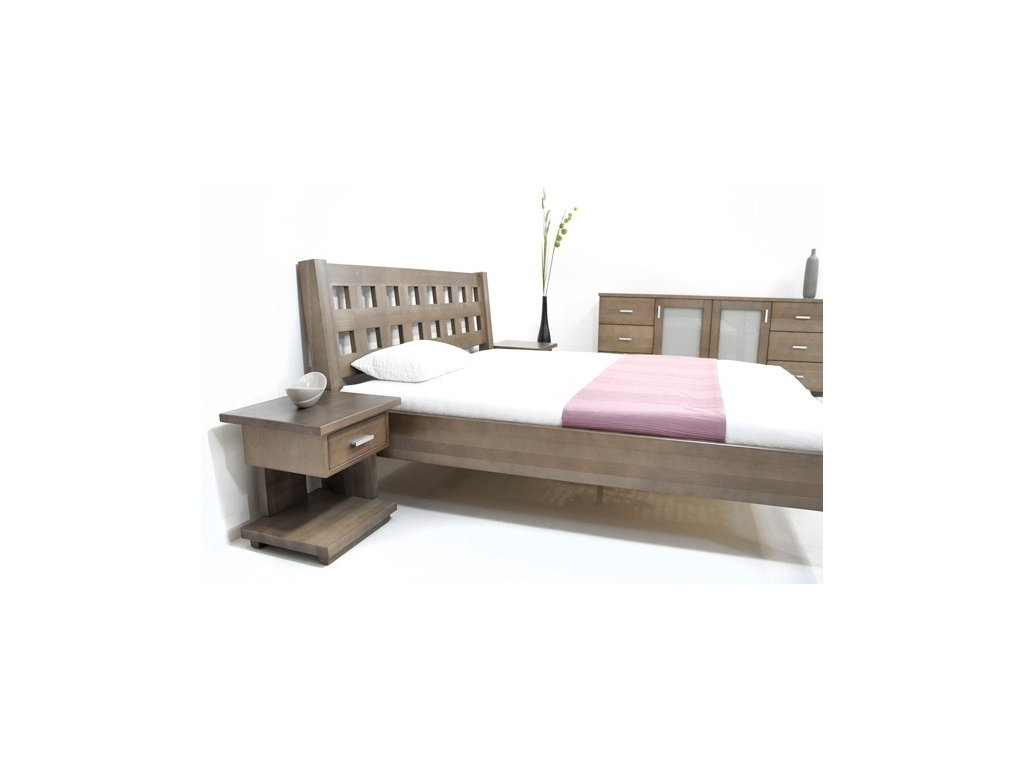 postel z masivu Kira  (Rozměr 200x200cm)