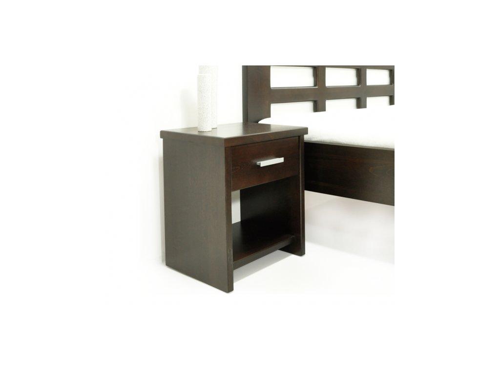 noční stolek z masivu Portos  (Materiál Okoume)
