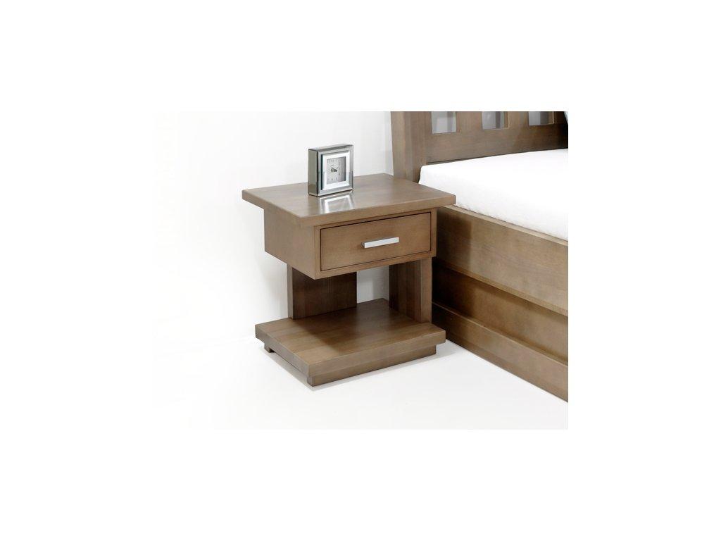 noční stolek z masivu Klára  (Materiál Okoume)