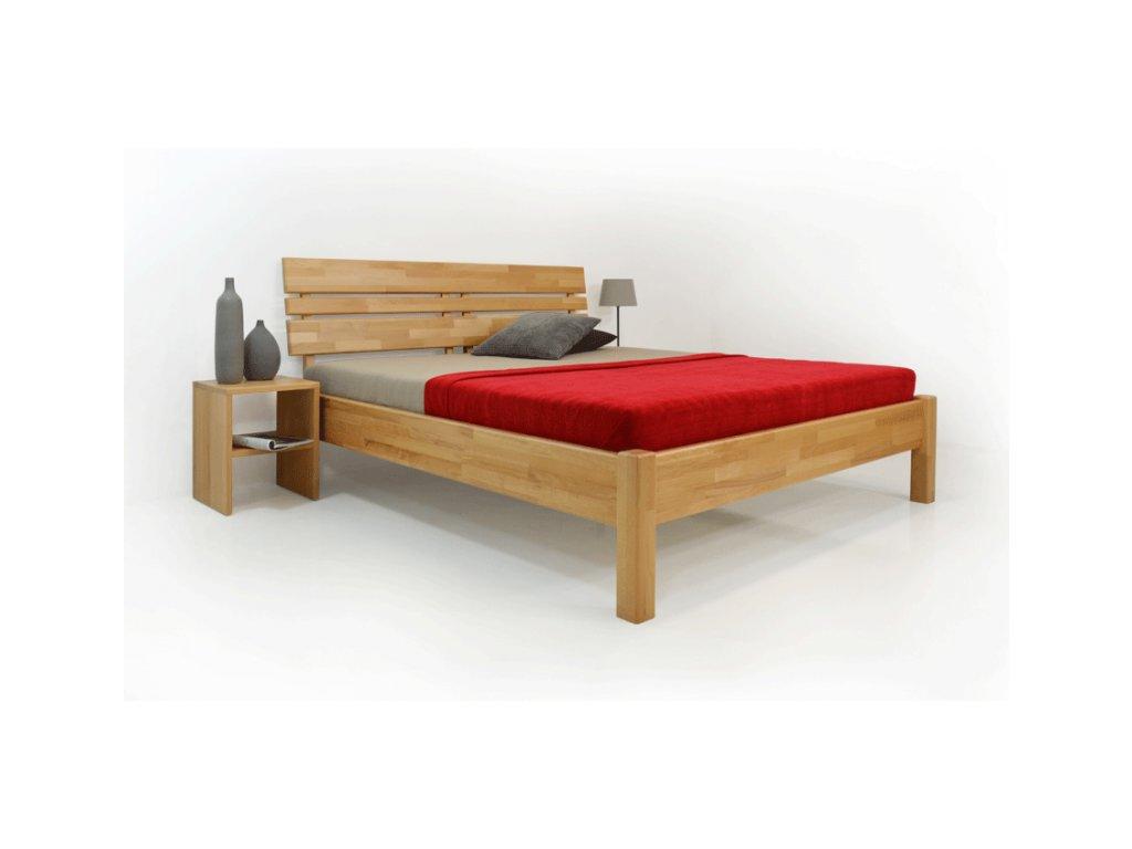 postel z masivu Kleopatra  (Materiál Okoume, Rozměr 200x200cm)
