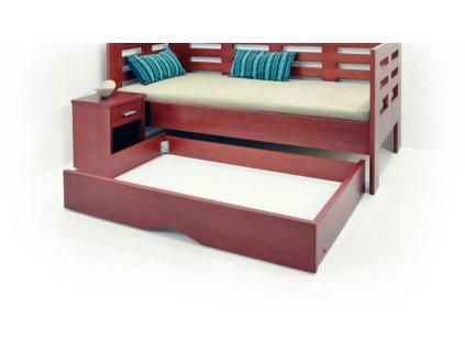 zásuvka pod postel  (Materiál O10, Rozměr OKOUME)