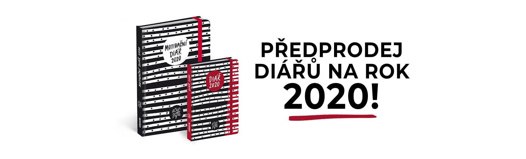 Předprodej diářů na rok 2020!