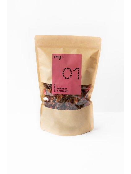 Granola 01 Brownies s malinami
