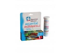 1 aquarium munster aquavital multitest 6 in 1 50 strips