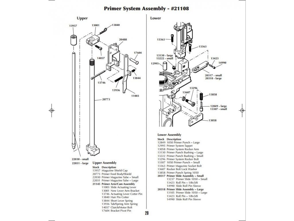 Dillon Primer Slide Assembly-Small