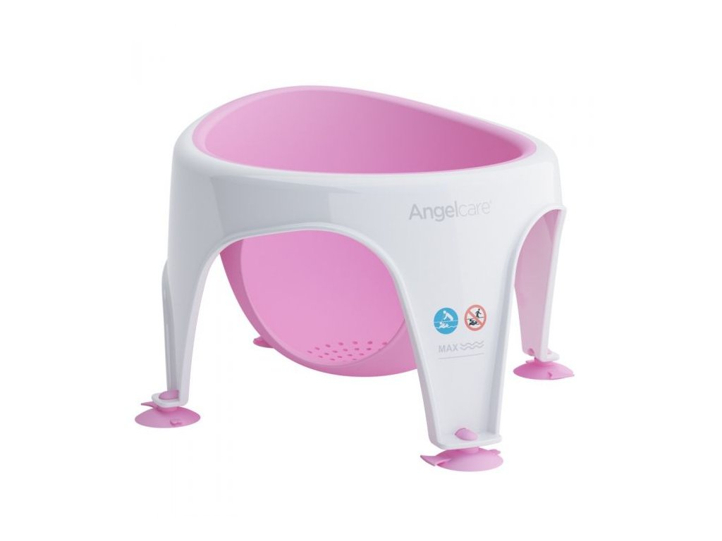 angelcare baby bath seat pink 1 4