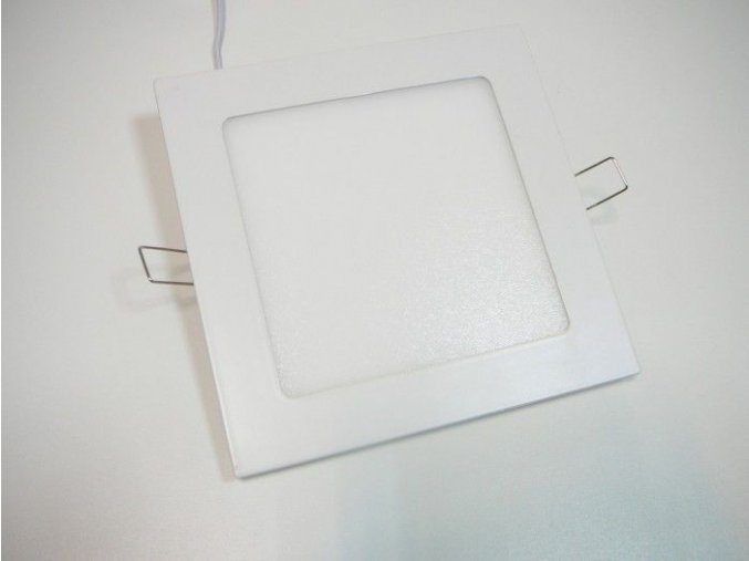 LED panel 12W čtverec bílý, 900 lm
