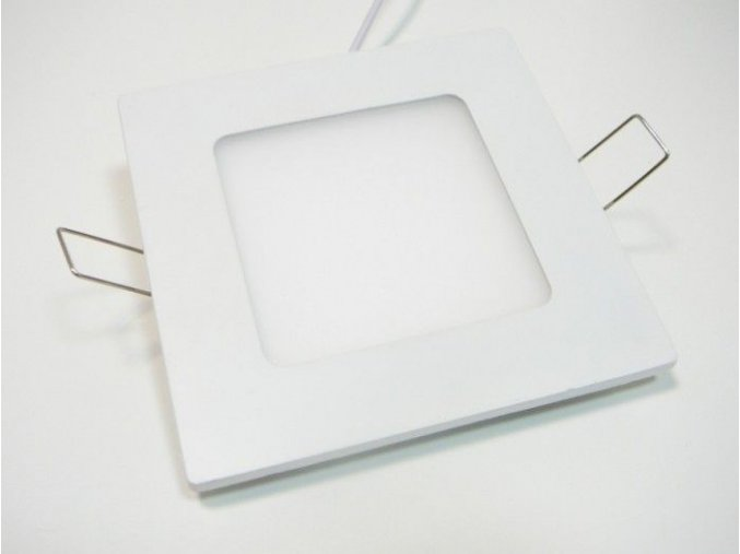 LED panel 6W čtverec bílý, 490 lm