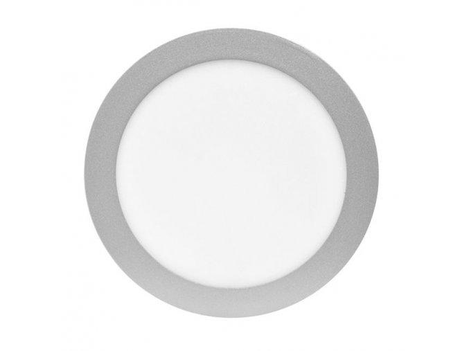 LED panel 12W kulatý stříbrný