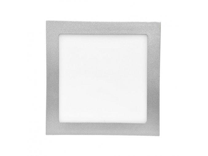 LED panel 12W čtverec stříbrný