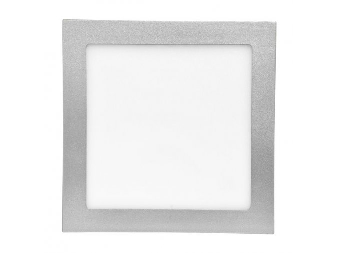 LED panel 18W čtverec stříbrný, 1550 lm