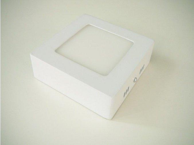 LED panel 6W přisazený čtverec, 490 lm