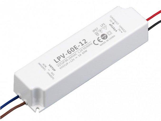 LED zdroj 12V 60W IP67 - LPV-60E-12