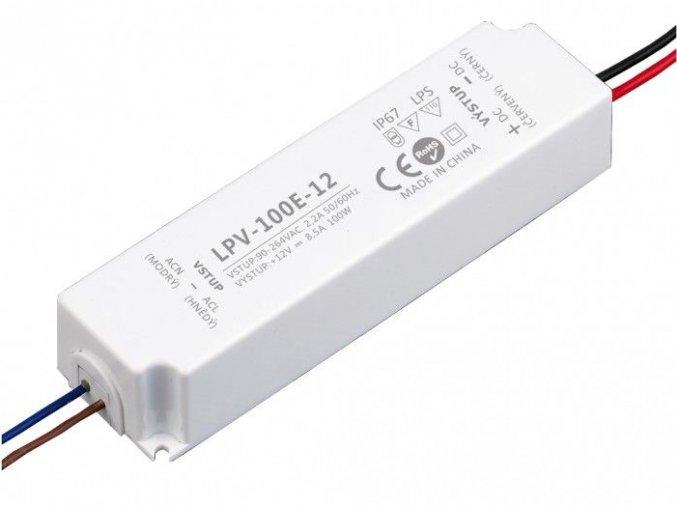 LED zdroj 12V 100W IP67 - LPV-100E-12