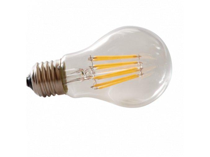 LED žárovka E27, Filament, 8W - 360°, teplá bílá