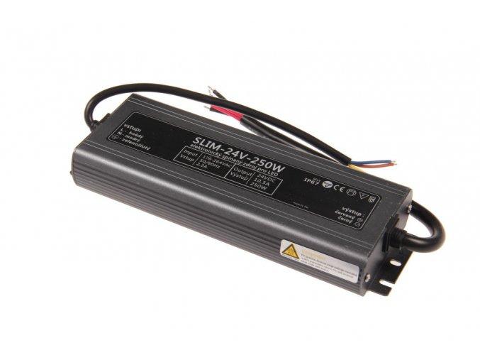 LED zdroj 24V 250W IP67 slim