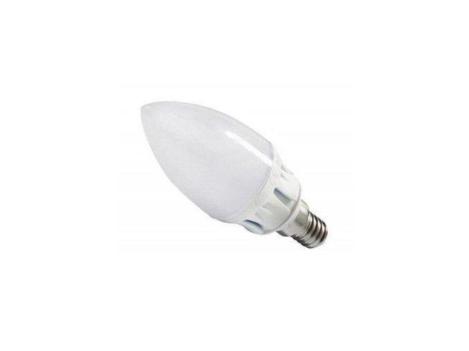 LED žárovka E14 svíčka, 5W - 180°, stmívatelná, teplá bílá