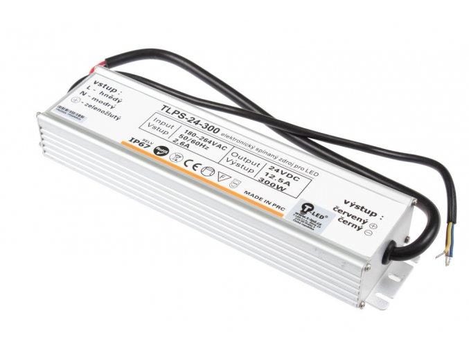 LED zdroj HPS 24V 300W IP67 slim