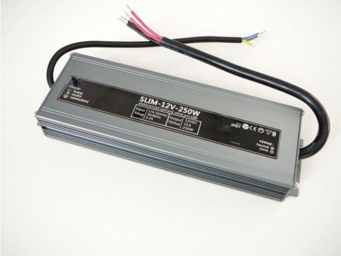 LED zdroj 12V 250W IP67