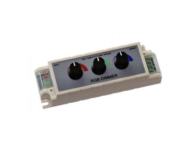 LED ovladač RGB manuální, 3x3A