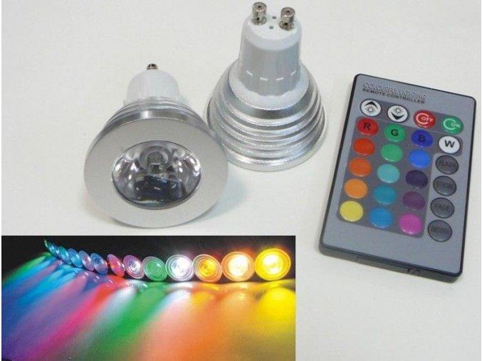 LED žárovka RGB16-2, GU10, 3W, 230V, 60°