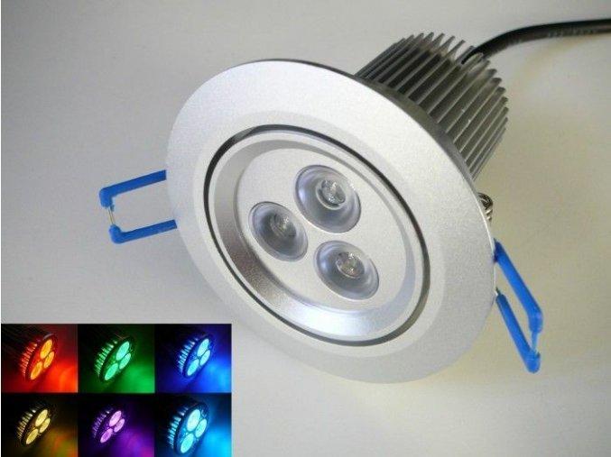 RGB LED podhledové svítidlo 12W 60° 12VDC